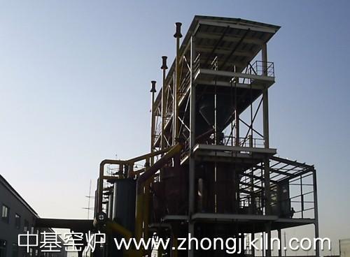 海绵铁隧道窑配套煤气发生炉站系统