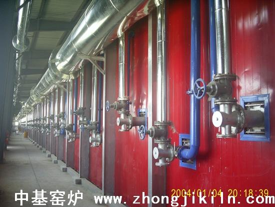 海绵铁隧道窑煤气管道布置一角