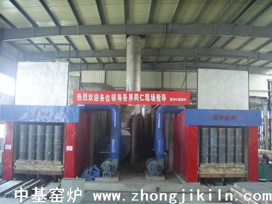 新疆鄯善华恒两条190米发生炉海绵铁隧道窑窑头