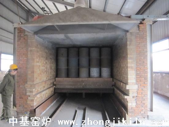 高炉煤气隧道窑窑头