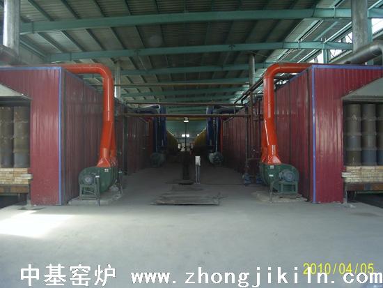 炼钢海绵铁隧道窑图片