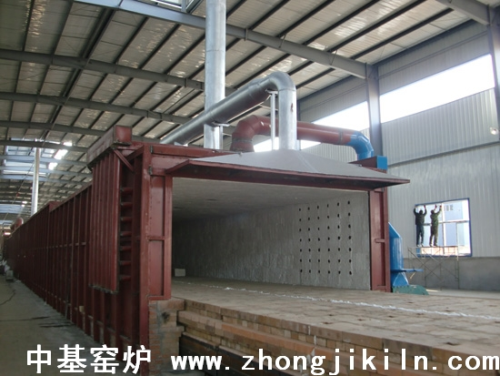 朝阳金麟铁粉厂187米宽断面金属框架全纤维棉体海绵铁隧道窑图片一