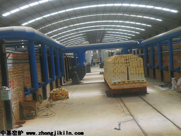洛阳市北斗祥雨两条全自动智能控温硅砖隧道窑工程
