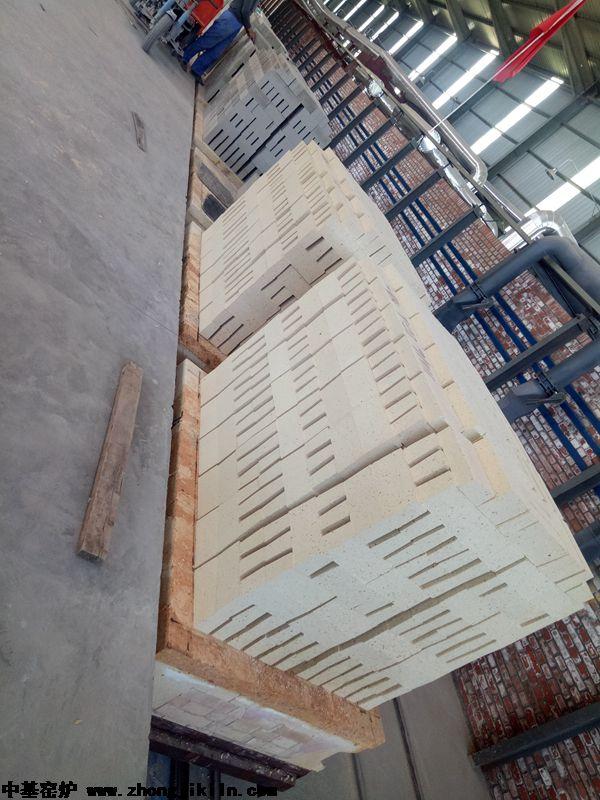 巩义市光华耐火材料有限公司86m全自动智能控制高铝砖隧道窑工程,含自动进出窑