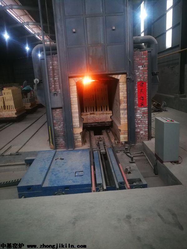 巩义奥宇全自动智能控制耐火砖隧道窑工程
